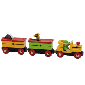 Safari Train with Popup Wagons