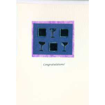 Cardilicious Handmade Card - Congratulations Glasses