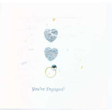 Cardilicious Handmade Card - Engagement Rings and Hearts