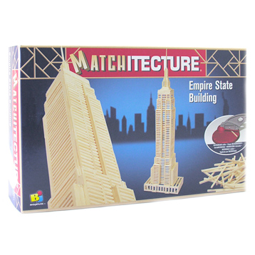 Empire State Building Matchstick Kit