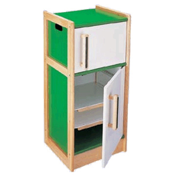 Wooden Toy Refrigerator