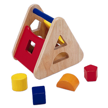 Sorting Basket Wooden Toy
