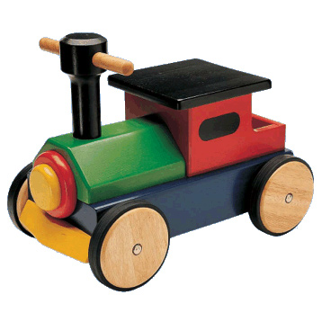 Sit on Wooden Train Toy