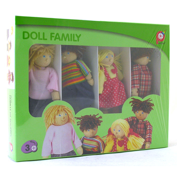 White Dolls House Family