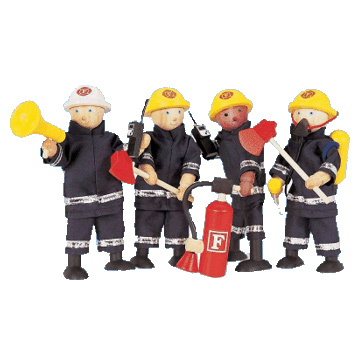 Wooden Toy Firefighters
