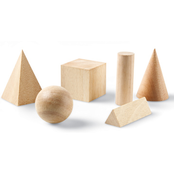 Hardwood Geometric Solids (Set of 12)