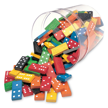 Double Six Dominoes in a Bucket