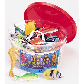 Fun Fish Counters (Set of 60)