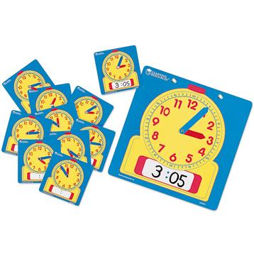 Write-On/Wipe-Off Clocks Classroom Set
