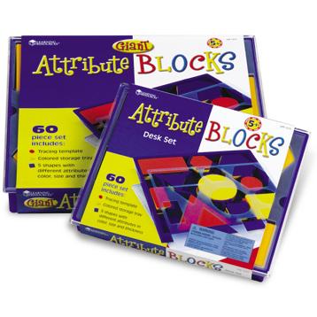 Attribute Block Desk Set in Plastic Storage Tray