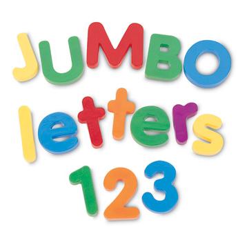 Jumbo Magnetic Letters Combo Set