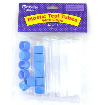 Plastic Test Tubes with Caps