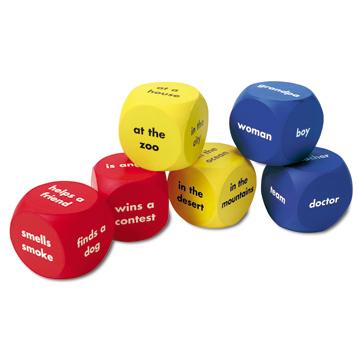Soft Foam Story Starter Word Cubes