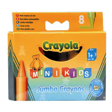mini kids 8 Jumbo Crayons