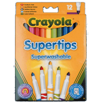 Washable Supertips Bright Pens