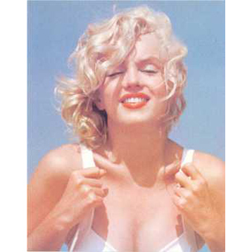 Marilyn Monroe Hands on Costume Colour Poster Card