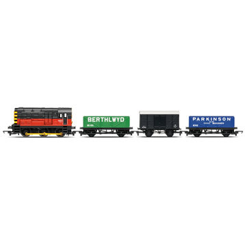 BR Red 08, 2 X Open Wagons, Box Van R2669