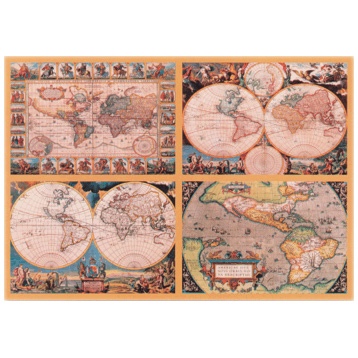 4 Historic World Maps 18000 Piece Puzzle