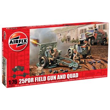 25 Pounder Field Gun & Quad Tractor