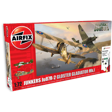 Dogfight Doubles: Junkers Ju87R-2 STUKA & Gloster Gladiator Mk.1 (Scale 1:72)