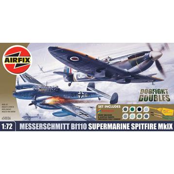 Dogfight Messerschmitt Bf110 & Spitfire Mk IX