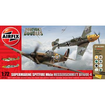 Dogfight Doubles Supermarine Spitfire MkIa & Messerschmitt Bf109E-4 (Scale 1:72)