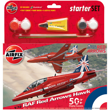 RAF Red Arrows Hawk Starter Set (Scale 1:72)