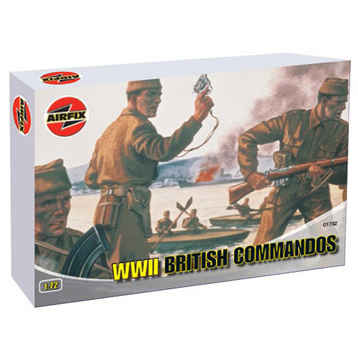 WWII British Commandos Figures 1:72