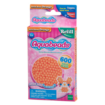 Orange Solid Bead Refill Pack