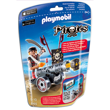 Playmobil Pirates Black Interactive Cannon With Raider