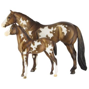 Overo Pinto Mare & Foal
