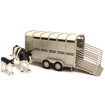 Big Farm Cattle Trailer with Cows