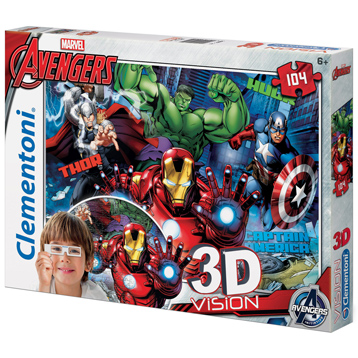 The Avengers 3D Vision Jigsaw Puzzle (104 Piece)