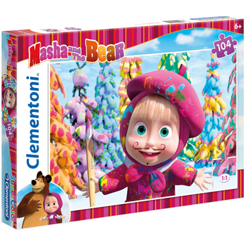 Masha and The Bear Supercolor Jigsaw Puzzle (104 Piece)