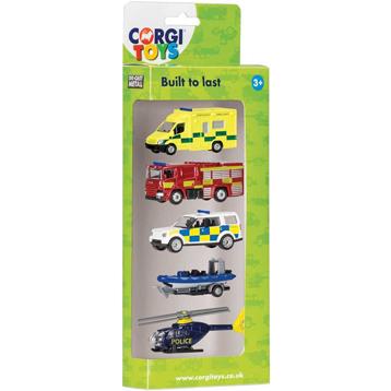 Die-Cast Emergency Vehicles 5 Pack