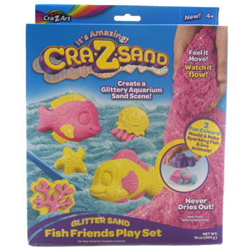 Cra-Z-Sand Glitter Sand Fish Friends Play Set
