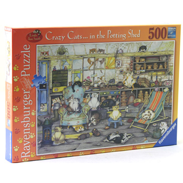 Crazy Cats in the Potting Shed 500 Piece
