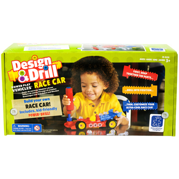 Design & Drill Power Play Vehicles Race Car