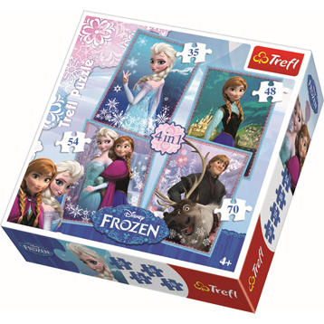 Disney Frozen 4 in 1 Puzzle