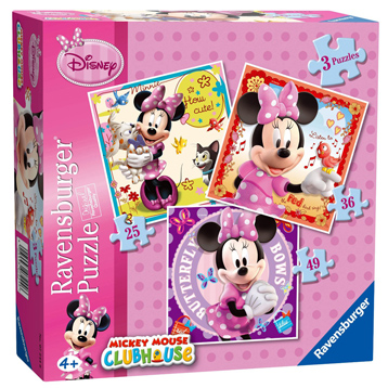 Minnie Mouse 3 in a Box Puzzle