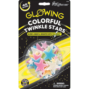 Glowing Colourful Twinkle Stars