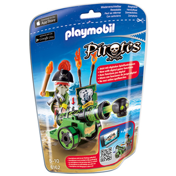 Playmobil Pirates Green Interactive Cannon With Pirate Cap
