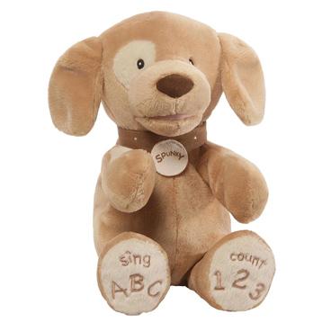 Tan Spunky Dog ABC/123