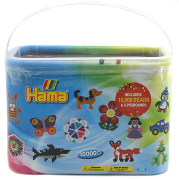 Hama Beads 10000 Bead Box with Pegboards