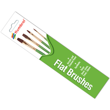 Flat Brushes (4 Pack)