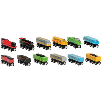 John Crane All Aboard Wooden Train Assortment