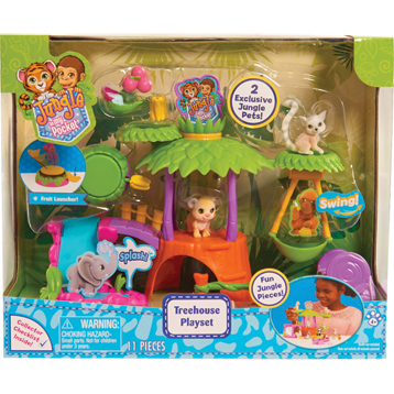 Jungle in My Pocket Treehouse Playset