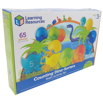 Learning Essentials Counting Dino Sorters Math Activity Set