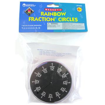 Magnetic Foam Rainbow Fraction Circles
