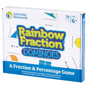 Rainbow Fraction Dominoes